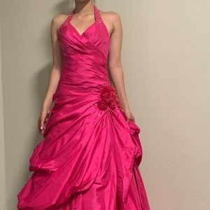 Deep Fuschia Evening/Prom/Elegant Dress 1 time use